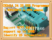 Free shipping Bios Board MX25L6405 W25Q64 USB Programmer LCD Burner CH341A Progammer for 24 25 Series+One Adapter Board