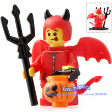 Building Brick Single Sale MG0099 Little Devil Halloween The Horror Theme Movie Action Figures Model Bricks TOYS Children Gift