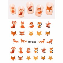 NAIL ART BEAUTY NAIL STICKER WATER DECAL SLIDER CARTOON ANIMAL KOALA DEER PANDA ZEBRA RED FOX RP151 156