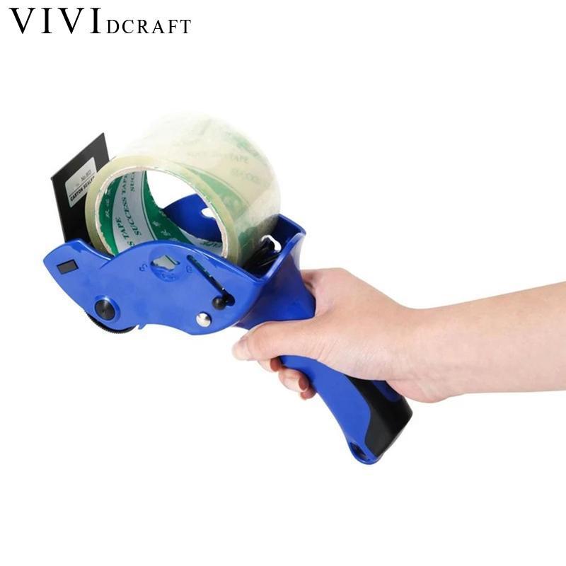 Vividcraft Sealing Packer Capable 6cm Width Sealing Masking Tape Cutter Holder Manual Packing Machine Papelaria Tape Dispenser
