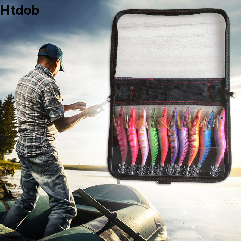 10pcs 3.5# 3# Squid Jigs Simulation Fishing Lure Tackle Fish Hook Artificial Bait Lure Environmental Protect Fishing Supply