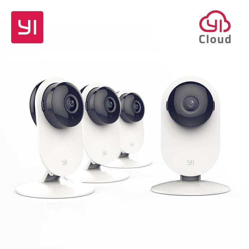 YI 4pc caméra à domicile sans fil IP système de Surveillance de sécurité avec Vision nocturne pour la maison bureau magasin bébé Pet moniteur YI Cloud