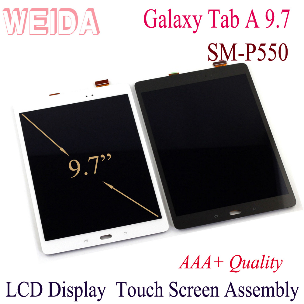 Lcd For Samsung Galaxy Tab A 9.7 P555 P550 LCD Display Touch Screen Digitizer Assembly Replacement Parts For SM-P550 Lcd 9.7
