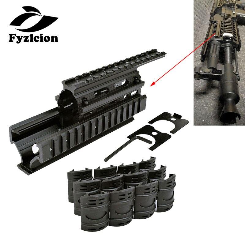 AK 47/74 Tactical Quad Rails Handguard Rail With 6pcs Covers