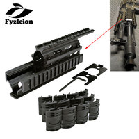 Tactical hunting Quad Rail Mount Handguard Rail 20mm Picatinny Side Rail Mount with Covers for AK47 74 AKs Accessories