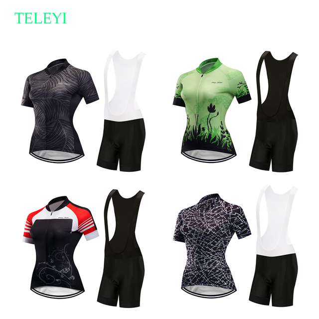 46a2917de5e Teleyi women s cycling jersey set bike clothes breathable bicycle clothing  pro GEL bib shorts pants maillot mtb triathlon suit