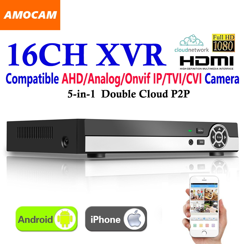 New 16CH Super XVR All HD 1080P 5-in-1 DVR CCTV Surveillance Video Recorder HDMI output with AHD/Analog/Onvif IP/TVI/CVI Camera voxlink ahd tvi cvi video converter full hd 1080p tvi cvi ahd signal to cvbs vga hdmi hd video converter for cctv cameras