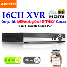 New 16CH Super XVR All HD 1080P 5-in-1 DVR CCTV Surveillance Video Recorder HDMI output with AHD/Analog/Onvif IP/TVI/CVI Camera