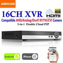 New 16CH Super XVR All HD 1080P 5-in-1 DVR CCTV Surveillance Video Recorder HDMI output with AHD/Analog/Onvif IP/TVI/CVI Camera
