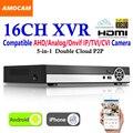 New 16CH Super XVR Todos Os HD 1080 P 5-em-1 de Vigilância CCTV DVR Gravador de Vídeo com saída HDMI AHD Analógico//IP Onvif/TVI/Câmera CVI