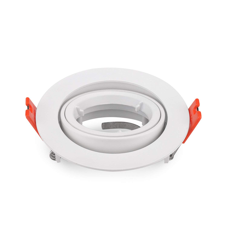 Pack of 2 MR16 Recessed Downlighs Adjustable White Round Lamp Fixtures GU10 MR16 Spotlight Fitting AdjustablePack of 2 MR16 Recessed Downlighs Adjustable White Round Lamp Fixtures GU10 MR16 Spotlight Fitting Adjustable