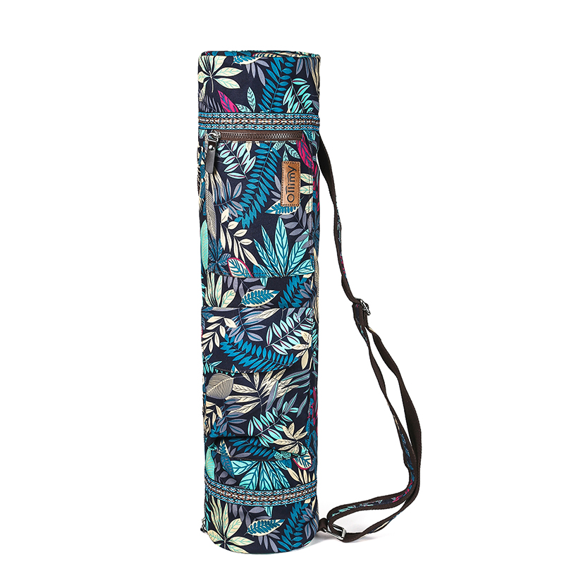 Printed Yoga Mat Bag Gym Mat Case For Momen Men Pilates Fintess Exercise Pad Easy Carry Yoga Backpack Dance Sports Yoga Bags