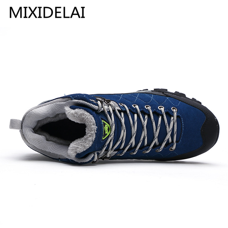3508ca78ae New Men Boots Winter With Fur 2018 Warm Snow Boots Men Winter Boots Work Shoes  Men Footwear Fashion Rubber ...