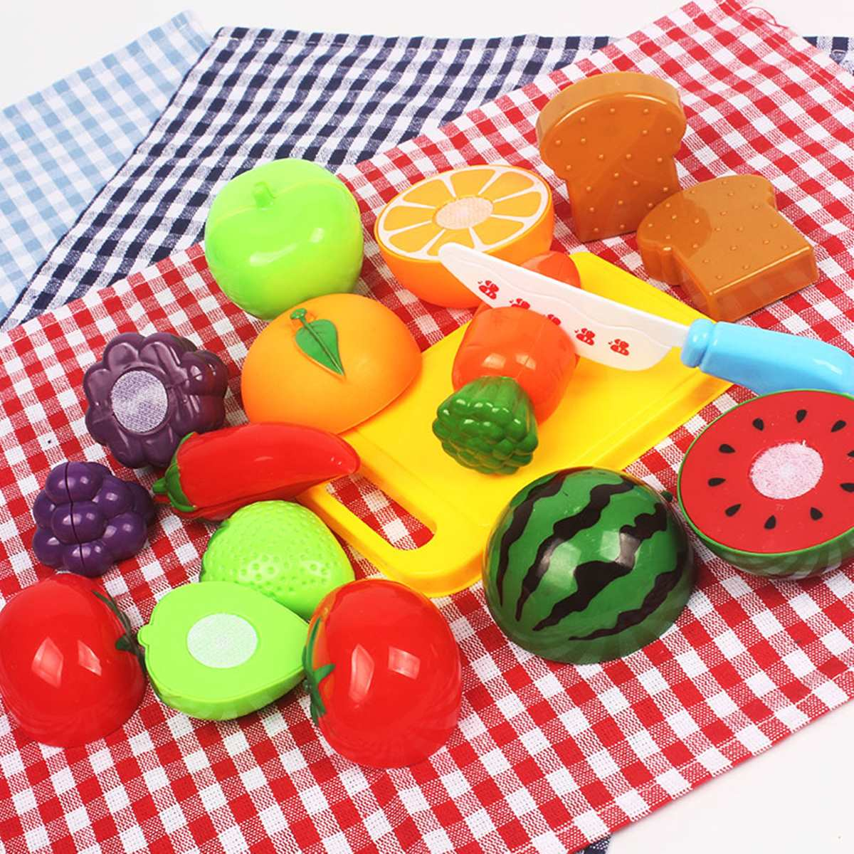 20pcs/set Kids Children Toddler Pretend Role Play Fruit Kitchen Cooking Cutting Toys Educational Toys Gift For Children Adult