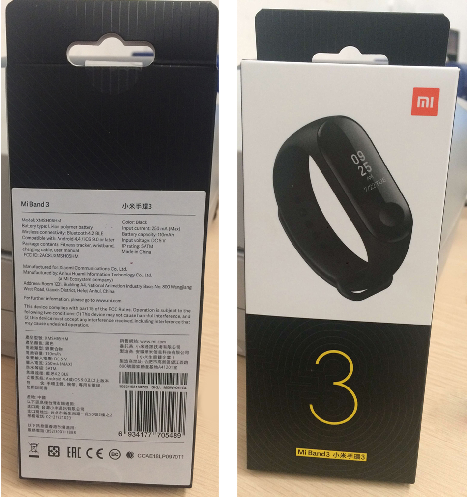 US $23 59 |Global Version Xiaomi Mi Band 3 Miband 3 Smart Tracker Band  Instant Message 5ATM Waterproof OLED Touch Screen Mi Band 3-in Smart  Wristbands