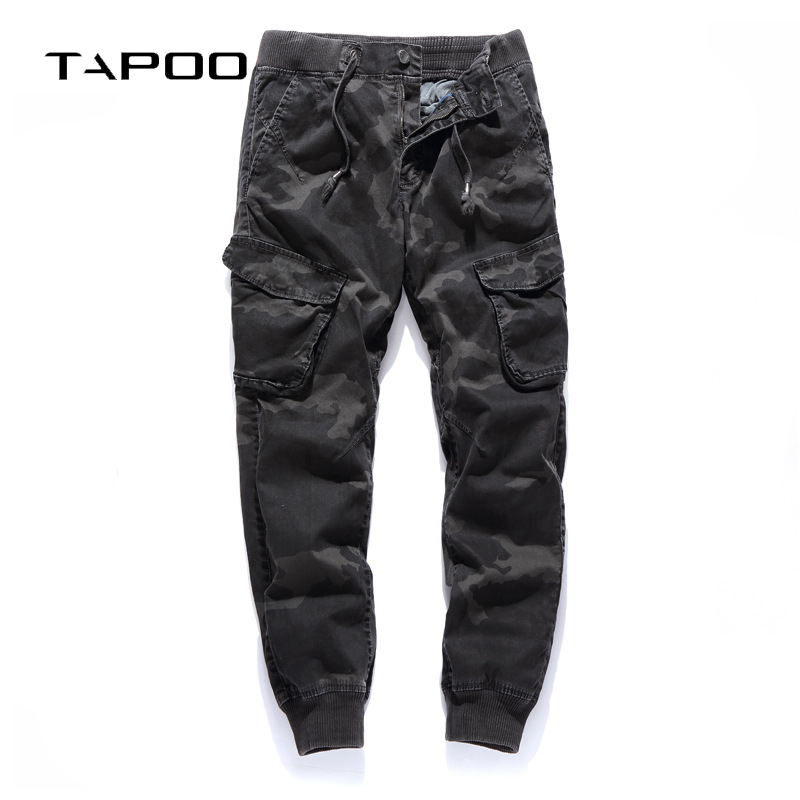 Men Camo Cargo Pants 2018 New men's casual camouflage Tactical Pants Multi Pockets Jogger Elastic Waist feet trousers homme