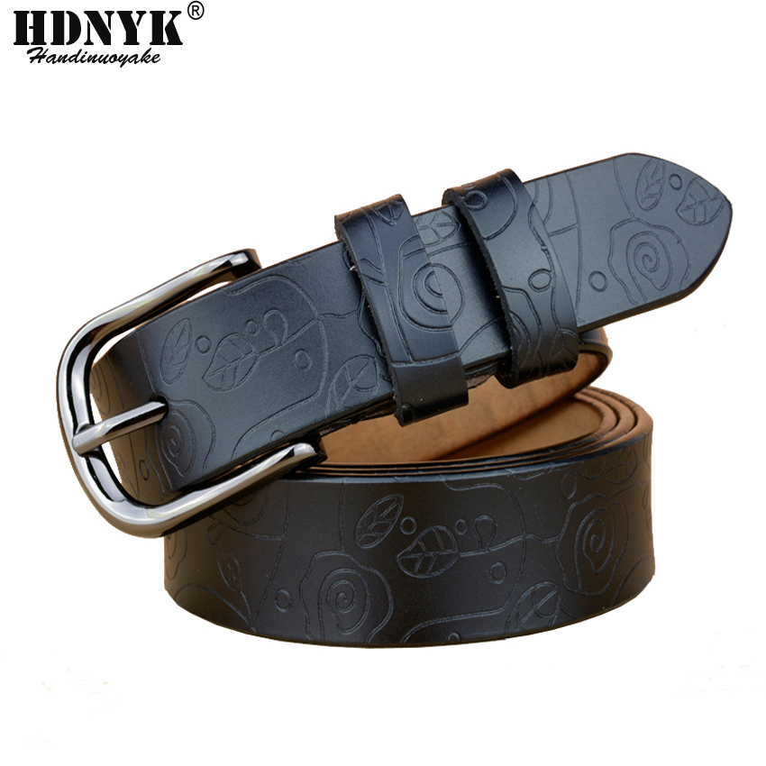 Factory Supply Low Price Fashion High Quality Vintage Flor Women Waist Belt Cow Leather Belts for Women Match Jeans New Belt image