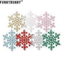 FUNNYBUNNY Fashion Christmas tree Ornament Colorful 12CM Plastic Snowflake Decoration pendant