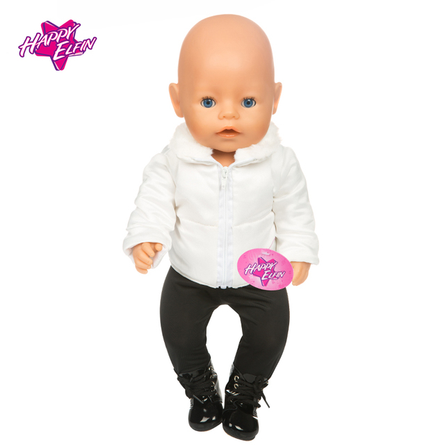 NEW 11 Hot Sale Doll Clothes Suit Fit 43cm Baby New Born Doll Warm  Jackets+Pants and Doll accessories Children best Gift 11779770e787
