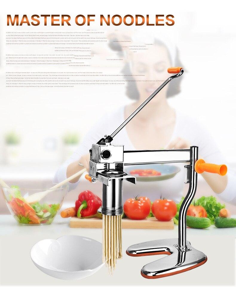 Macarronete manual que faz a máquina  máquina do fabricante da massa  máquina de corte do macarronete  modelo 6 da imprensa do macarronete|Panela elétrica p/ macarrão| |  -