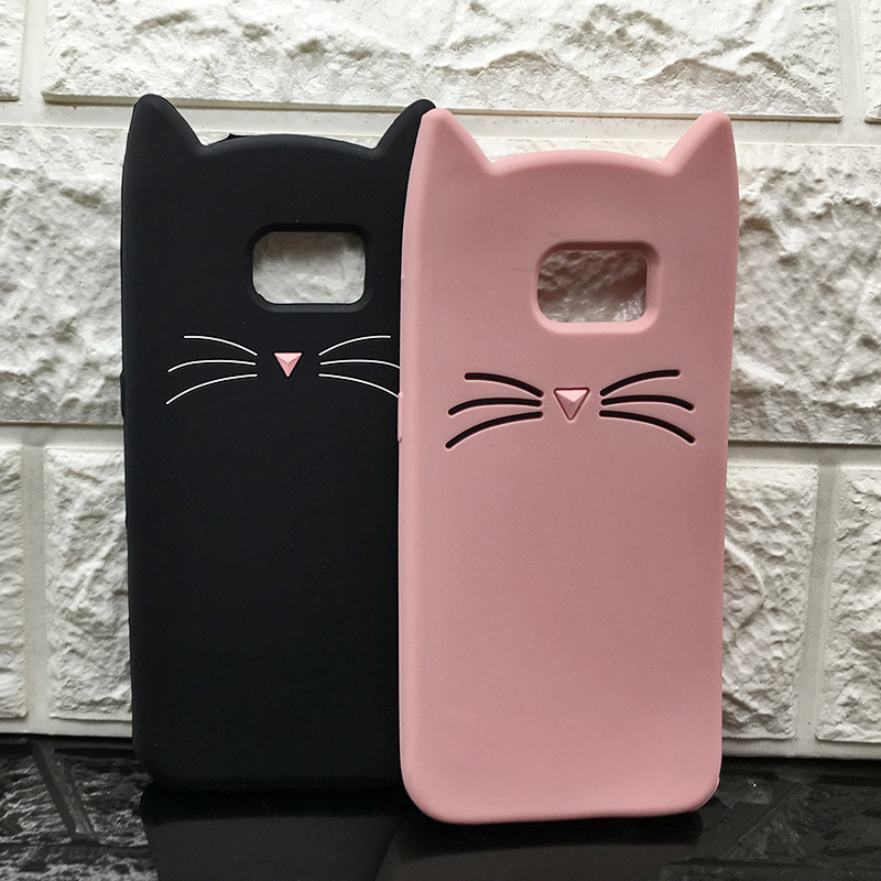Galleria fotografica Cute Japan 3D Silicone Cartoon Cat Pink Sexy eyelashes horse Unicorn Case For Samsung Galaxy S9 S9 plus S9P Cover Coque Fundas