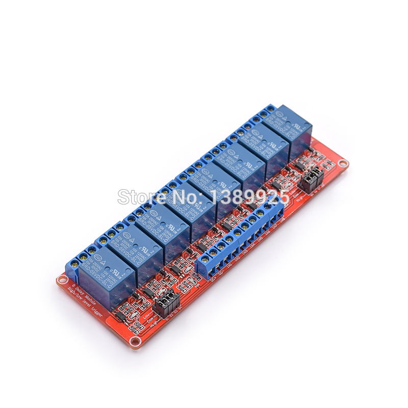 Free Shipping 5pcs/lot 5V 8 Channel Relay Module With Isolated Support High And Low Level Trigger High Quality