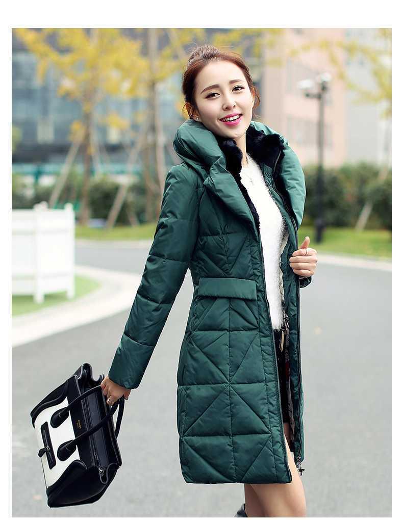 ФОТО ON SALE 2015 Winter Jacket Women Slim Real Fur Collar Thickening Coat Long Duck Down Parka Women Outwear Casual Overcoat H4229