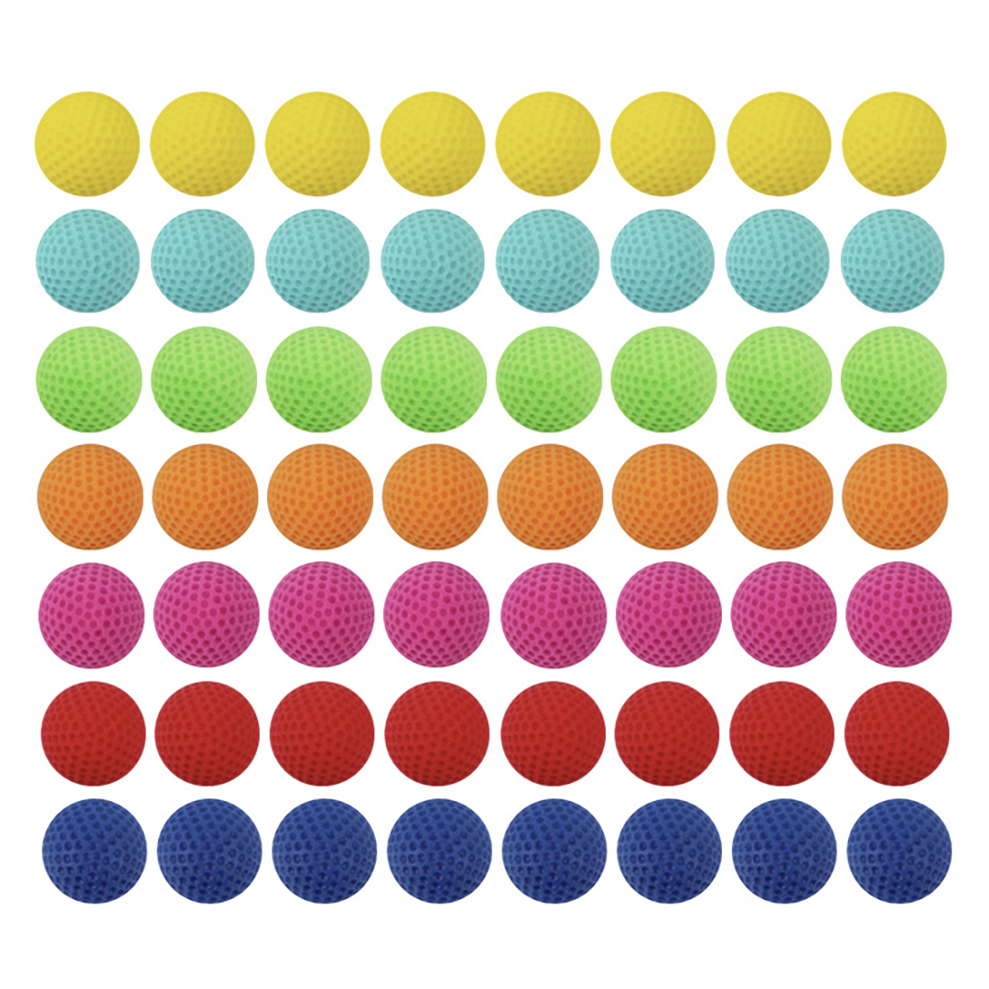 100pcs Round Refill Foam Seven Color Mixed Bullet Balls Compatible For XVIII-6000/MXVI-4000/MXVII-10K Apollo Toy For Boys Gift