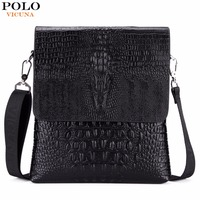 VICUNA POLO Luxury Embossed Alligator Pattern Famous Brand Men Messenger Bags Classic Business Mens Shoulder Bag