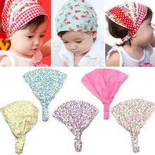 2016 Girl Fashion Newborn Flower Headband Hair Wear Headscarf Bandana Hat 5 Colors Hair Accessories