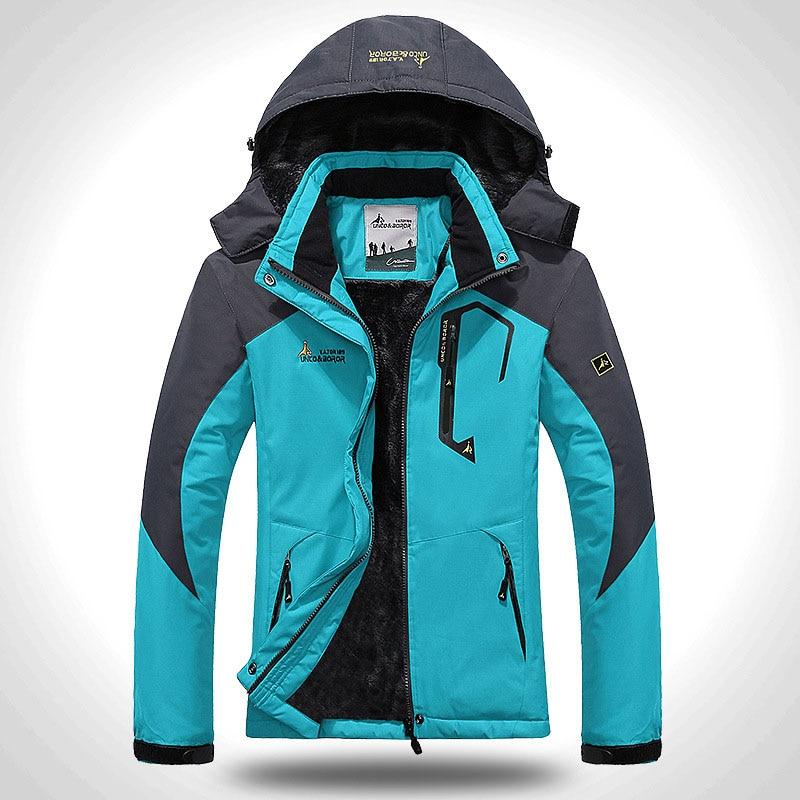 Women's Softshell Jacket Ski Suit Hiking Down Coats Waterproof Snow Snowboard Clothes Skiing Fishing Costume Female Sportswear (1)