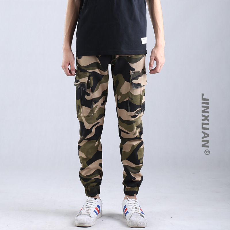 159e543964 2017 Hombres de Marca Ropa de Camuflaje Pantalones De Carga Masculina bolsa Casual  Hombre Pantalon Homme Hip Hop pantalones multibolsillos Más tamaño 3XL en  ...