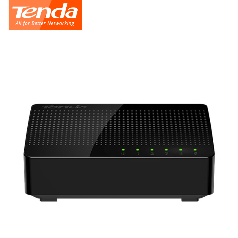 Tenda SG105 Ethernet Network Switchs 5 Gigabit Port Desktop Switch 10/100/1000Mbps RJ45 Port Soho Switch LAN Hub Plug And Play