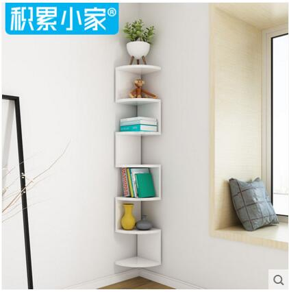 Fan shelf wall corner shelf wall rack wall hanging wall corner rack hiasan sudut ruangan tamu