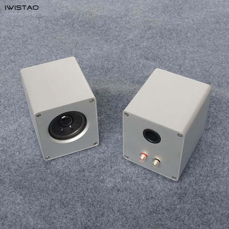 IWISTAO HIFI 3 Inch Full Range Speaker 1 Pair 2 x 15W Computer Speaker Whole Aluminum Casing Audio h 019 fountek fr88ex full range 3 inch hifi speaker amplifier speaker hot sale 84 3db 1w 1m