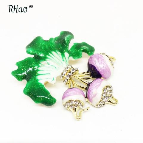 Фиолетовые ювелирные изделия ручная роспись фотобулавка с Стразы
