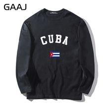 T Shirt Uomo Cuba Bandiera Tee Streetwear Uomo   Donna Unisex Maglia a  Manica lunga Stampa 63c9f1d36bfb
