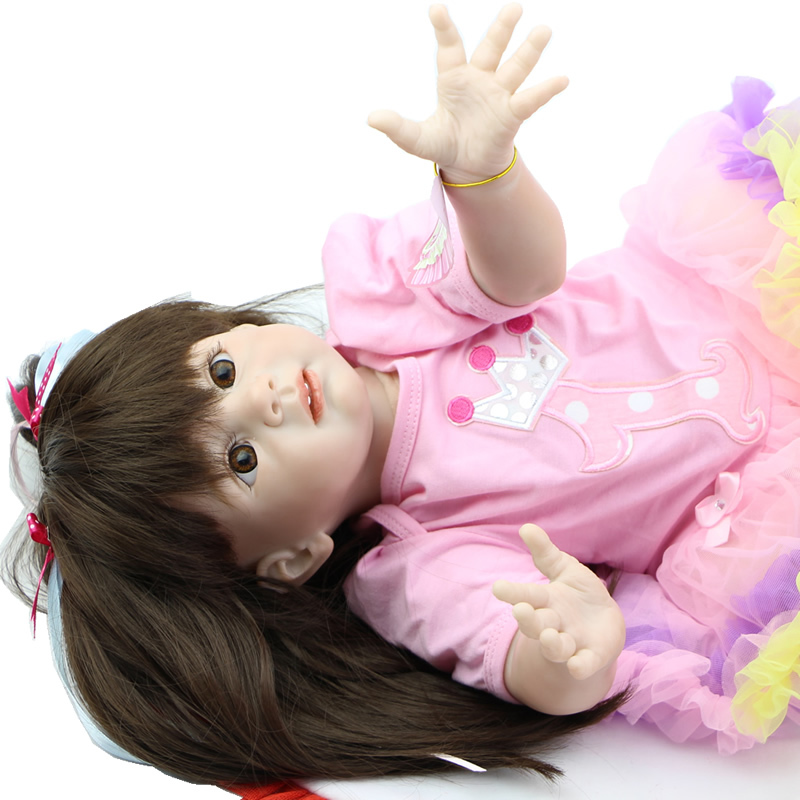 Cheap Toys For Children 24 inch Fashion Doll Handmade Princess Girl Dolls Lifelike Reborn Babies Kids Birthday Xmas Gift lifelike american 18 inches girl doll prices toy for children vinyl princess doll toys girl newest design