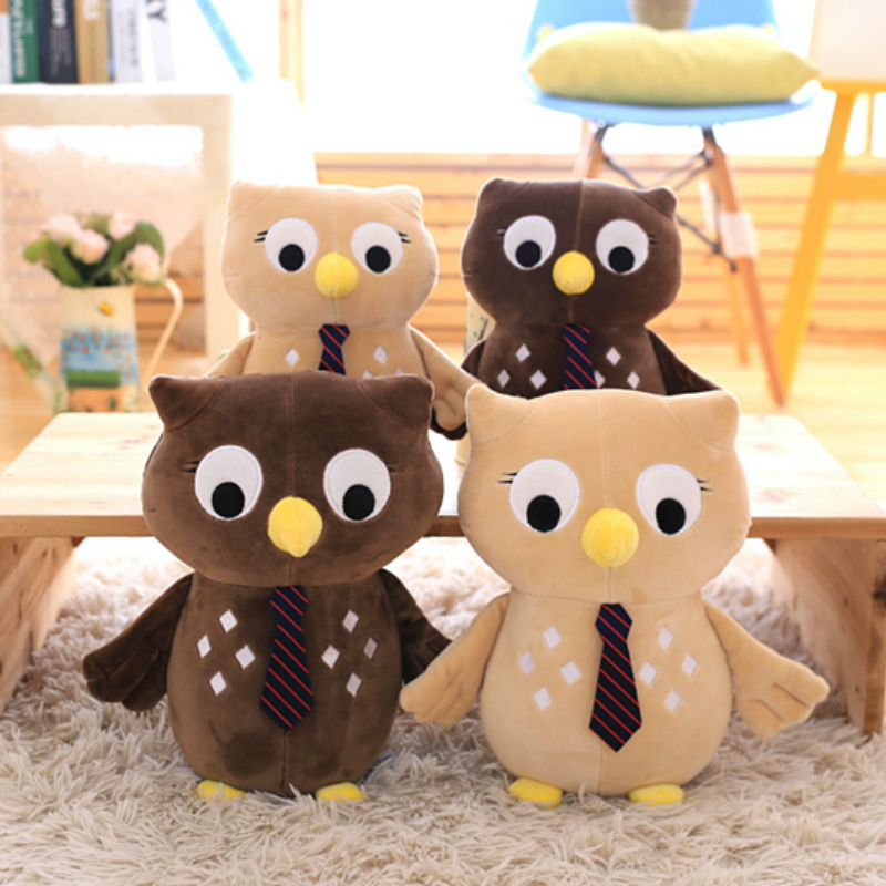 25/30cm Super Cute Night Owl Plush Doll Toys Baby Kids Stuffed Toys Kawaii  Plush Owl Toys Cotton Stuffed Animal Doll  hot sale 2pcs 18cm super cute night owl plush toy doll baby toys owl stuffed animal doll best gift for kid free shipping
