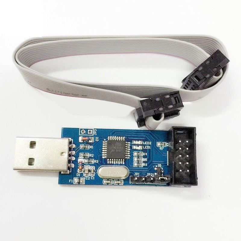 10pcs New USBASP USBISP AVR Programmer USB ISP USB ASP ATMEGA8 ATMEGA128 Support Win7 64K