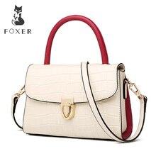 FOXER 2019 Nieuwe Office Gentlewoman luxe Schoudertassen Lady Grote Capaciteit Split Lederen hoge kwaliteit Elegante Messenger Bags