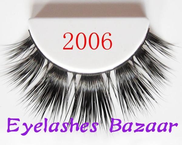 Frete grátis 2006 1 pçs/lote mais fashional extensão dos cílios de seda natural produtos de sexo de alta qualidade falso vison cílios