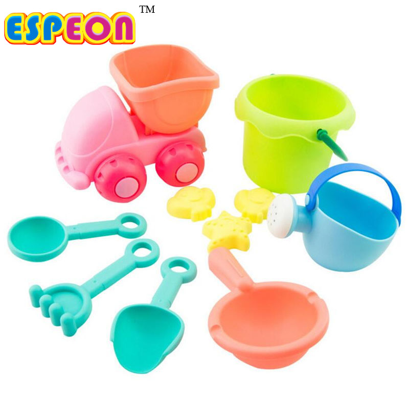Classic Toys Bath Toy Realistic Espeon Beach Tools Set Sand Playing Toys 10pcs/set Kids Fun Sand Toys Soft Water Beach Outdoor Tools Seaside Toys Online Shop