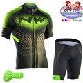 2018 летняя детская одежда для велоспорта, одежда для велоспорта, короткий рукав, Джерси с шортами, комплект, детский MTB дорожный велосипед, ко...