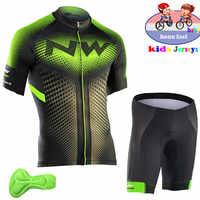 2018 d'été enfants Vêtements de Cyclisme vêtements de vélo à manches Courtes Jersey ensemble Short et haut Enfants VTT Vélo de Route Costumes ropa de ciclismo