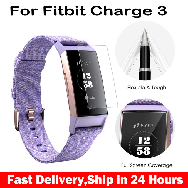 US $2 33 22% OFF|HD Protective Film For Fitbit Charge 3 Charge3 Anti  Scratch TPU Screen Protectors For Fitbit Charge 3-in Phone Screen  Protectors from