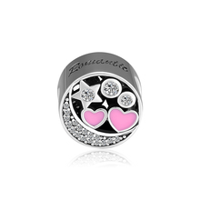 CKK Beads Hearts of Love Charm Fits Pandora Charms Silver 925 Original Bracelets for Jewelry Making perles abalorios