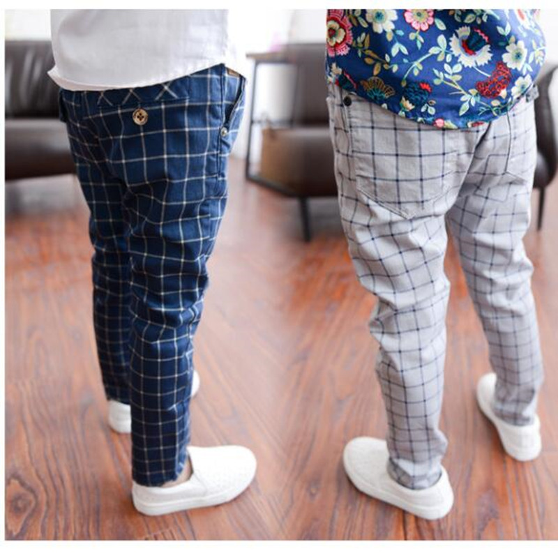 Children Pants Spring Plaid Baby Boys Pants England Style Fashion Toddler Kids Trousers New Arrival Gentleman