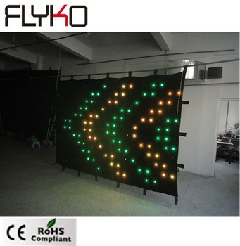 Vendiendo bien china de pantalla de vídeo 2 m * 3 m P15 vídeo cortina llevada flexible
