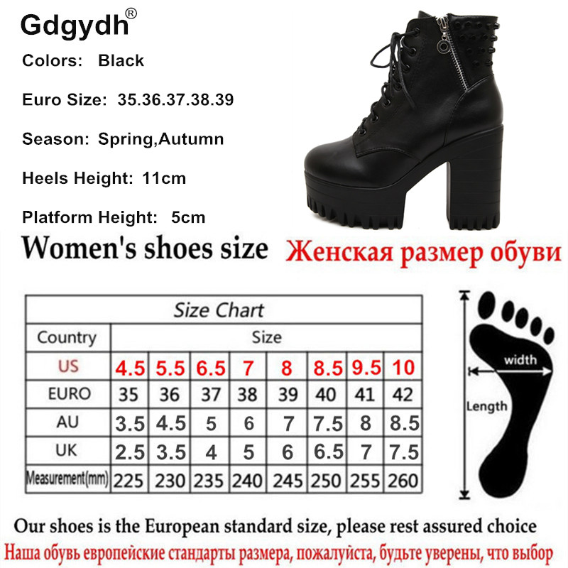 ... Gdgydh New brand 2018 spring autumn women boots platform high-heeled  thick heel lacing casual 48b4b32ac73